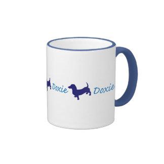 Doxie/Dachshund Ringer Coffee Mug