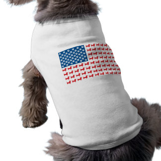 Doxie - Dachshund Patriotic American Flag Pet T Shirt