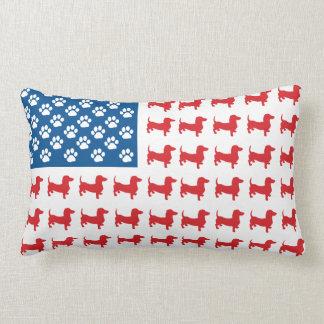 Doxie - Dachshund Patriotic American Flag Pillow