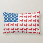 Doxie - Dachshund Patriotic American Flag Pillows