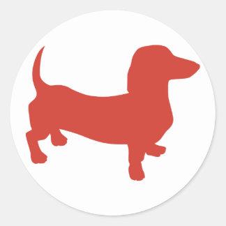 Doxie - Dacshund Etiqueta Redonda