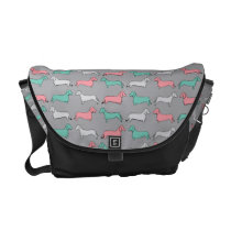 Doxie Dash - Pink Messenger Bag