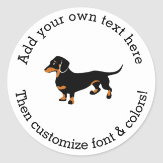 Doxie Dog Love - Cute Little Dachshund Classic Round Sticker