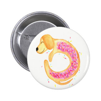 Doxie Donut by Merrin Dorothy Pinback Button
