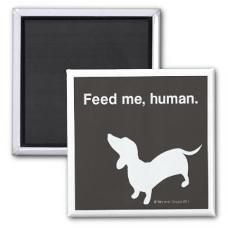 Doxie Feed Me Magnet black