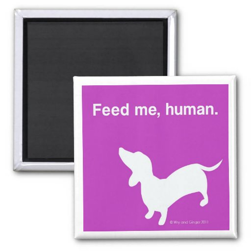 Doxie Feed Me Magnet pink