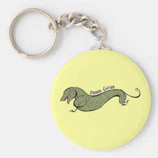 Doxie Gras Basic Round Button Keychain
