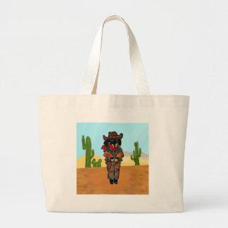 Doxie Gunslinger Large Tote Bag