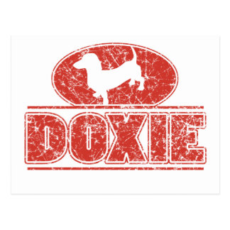 DOXIE-in-Circle-Distressed Postcards