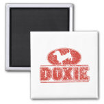 DOXIE-in-Circle-Distressed Refrigerator Magnet