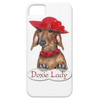Doxie Lady in Red iPhone 5 Cover