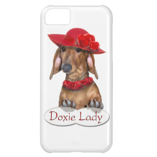 Doxie Lady in Red iPhone 5C Cover