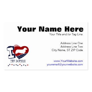 Doxie [long haired] Double-Sided standard business cards (Pack of 100)