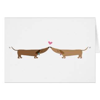 doxie love greeting card