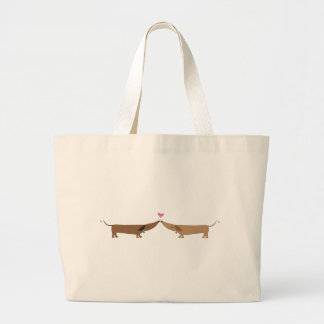doxie love large tote bag