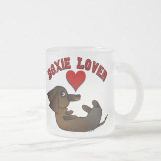 Doxie Lover Frosted Coffee Mug