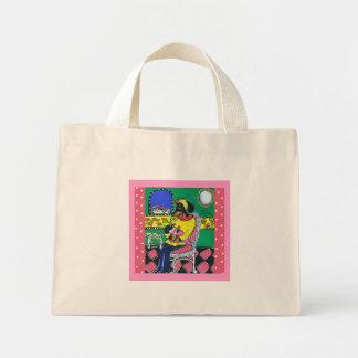 Doxie Mom & Baby Mini Tote Bag