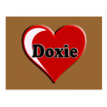 Doxie on Heart for dog lovers Postcard