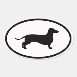 doxie oval sticker