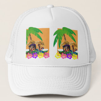 DOXIE PARTY ORANGE SKY TRUCKER HAT