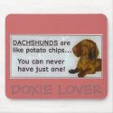 doxie_potato_chips, DOXIE LOVER Mouse Pads