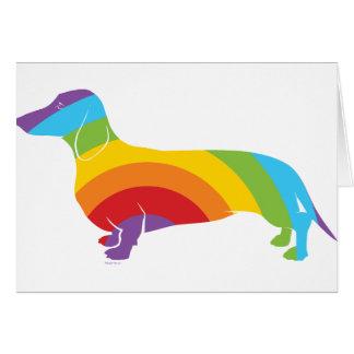 Doxie Rainbow Connection Card