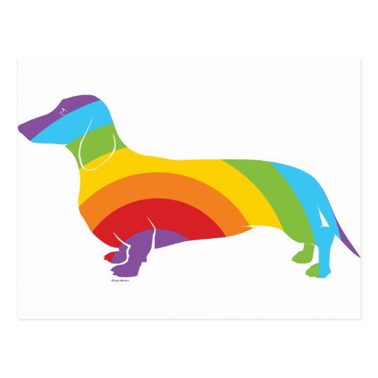 Doxie Rainbow Connection Postcard