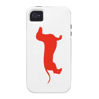 Doxie rojo Case-Mate iPhone 4 carcasa