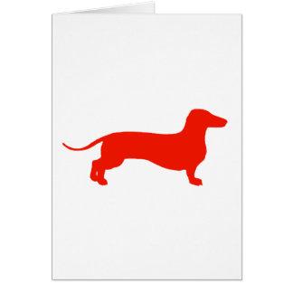 Doxie rojo tarjeta de felicitación