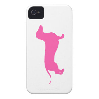 Doxie rosado Case-Mate iPhone 4 funda