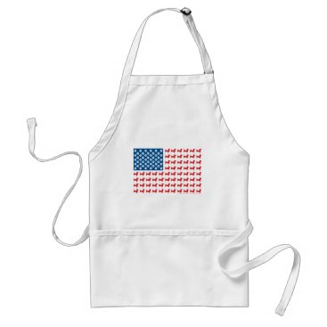 USA Themed Doxie-USA-FLAG-for-Darks Adult Apron