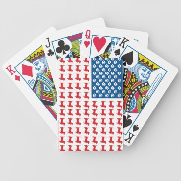 USA Themed Doxie-USA-FLAG-for-Darks Bicycle Playing Cards