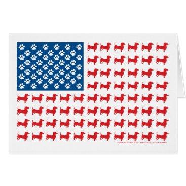 USA Themed Doxie-USA-FLAG-for-Darks Card
