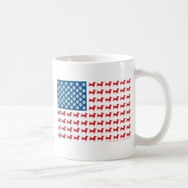 USA Themed Doxie-USA-FLAG-for-Darks Coffee Mug