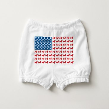 USA Themed Doxie-USA-FLAG-for-Darks Diaper Cover