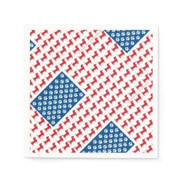 USA Themed Doxie-USA-FLAG-for-Darks Napkin