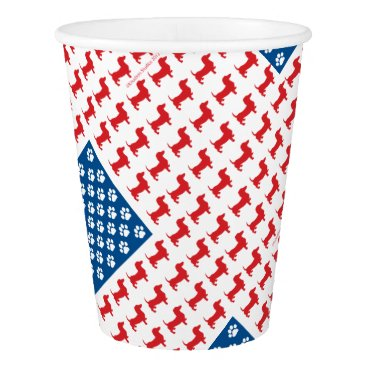 USA Themed Doxie-USA-FLAG-for-Darks Paper Cup