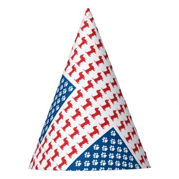 USA Themed Doxie-USA-FLAG-for-Darks Party Hat