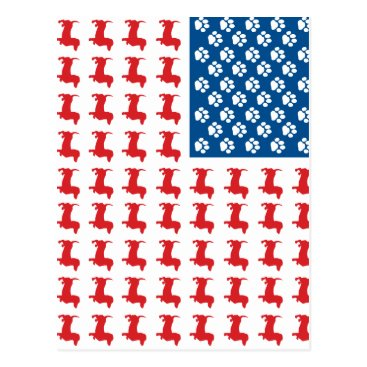 USA Themed Doxie-USA-FLAG-for-Darks Postcard