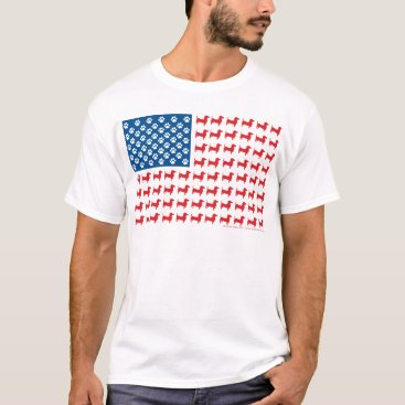 USA Themed Doxie-USA-FLAG-for-Darks T-Shirt