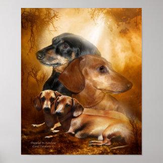 Doxies - Dappled en poster/la impresión del arte d