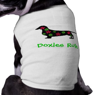 Doxies Rule Dog T-shirt