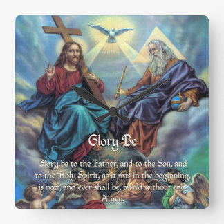 Doxology - Glory Be Square Wall Clock