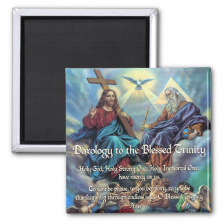 Doxology to the Blessed Trinity 2 Inch Square Magnet