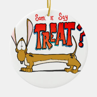 Doxy Treat Ceramic Ornament