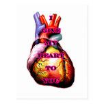 Doy a mi corazón usted la magenta del negro el postal
