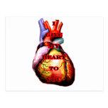 Doy a mi corazón usted rojo del negro el MUSEO Postal