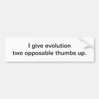 Doy la evolución - pegatina para el parachoques etiqueta de parachoque