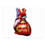 Doy mi corazón sea mi tarjeta del día de San Postal