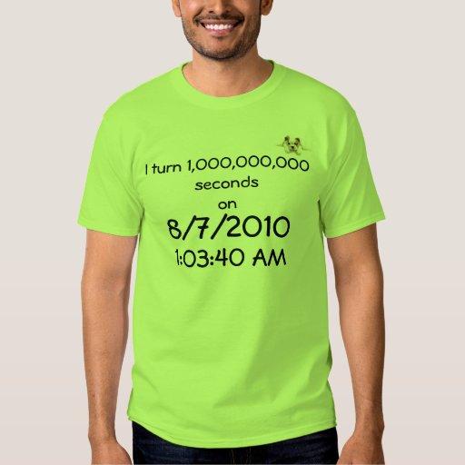 Doy vuelta 1.000.000.000 al secondson, 8/7/2010… playera
